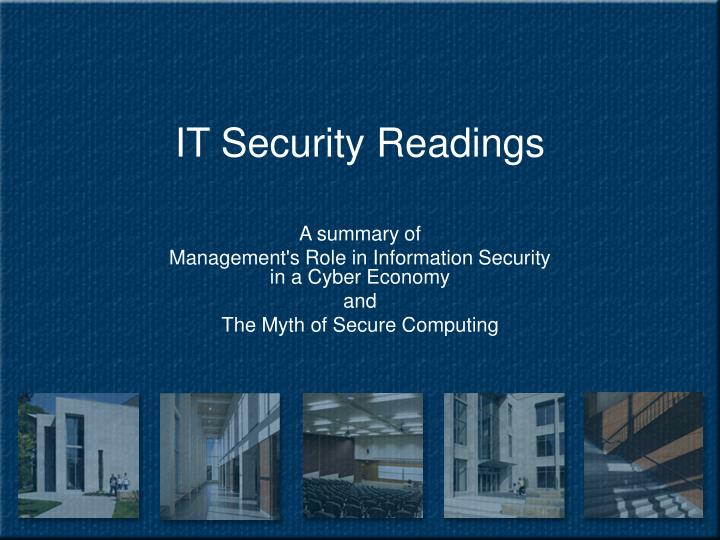 it security readings n.