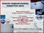 Antarctic subglacial plumbing mapped from space