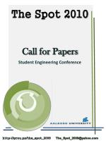 Call for Papers Student Engineering Conference