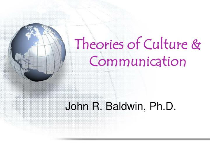 theories of culture communication n.