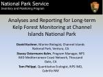 Analyses and Reporting for Long-term Kelp Forest Monitoring at Channel Islands National Park