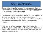 What is conformity?