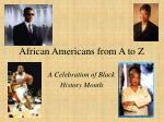African Americans from A to Z