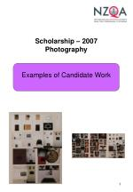 Scholarship – 2007 Photography