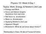 Physics 151 Week 9 Day 1