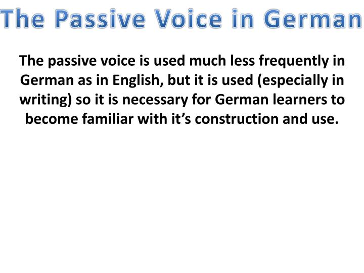 ppt - the passive voice in german powerpoint presentation - id:1757331