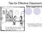 Tips for Effective Classroom Management