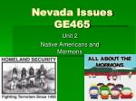 Nevada Issues GE465