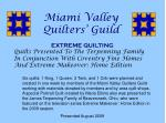 Miami Valley Quilters' Guild