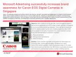 Microsoft Advertising successfully increases brand awareness for Canon EOS Digital Cameras in Singapore