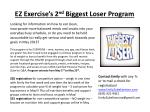 EZ Exercise's 2 nd Biggest Loser Program