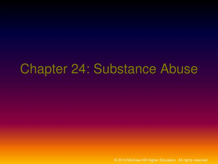chapter 24 substance abuse n.