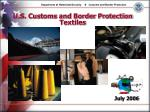 U.S. Customs and Border Protection Textiles