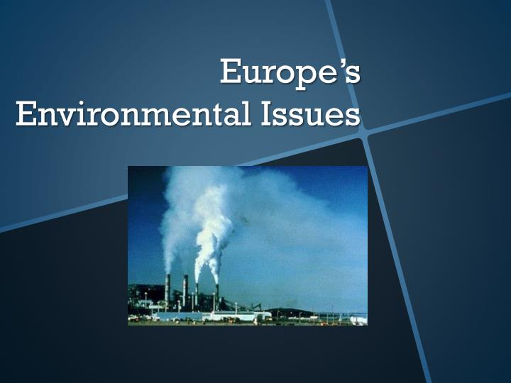 europe s environmental issues n.