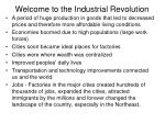 Welcome to the Industrial Revolution