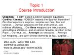 Topic 1 Course Introduction