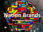 Nation Brands Muhterem  İlgüner Brand Finance  plc