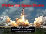 Whither the Space Shuttle