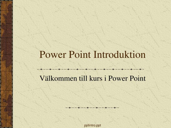 power point introduktion n.