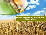 South Region Ag Education