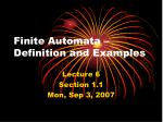 Finite Automata – Definition and Examples