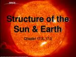 Structure of the Sun & Earth
