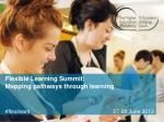 Flexible Learning Summit: Mapping pathways through learning