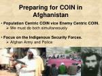 Preparing for COIN in Afghanistan