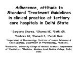 Adherence, attitude to Standard Treatment Guidelines in clinical practice at tertiary care hospitals in Delhi State