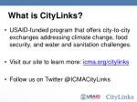 What is CityLinks?