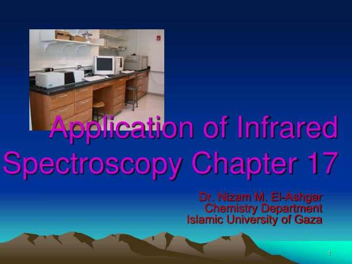 application of infrared spectroscopy chapter 17 n.