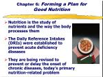 Chapter 6: Forming a Plan for Good Nutrition