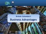 British Columbia's Business Advantages