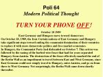 Poli 64 Modern Political Thought