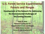 U.S. Forest Service Experimental Forests and Ranges