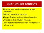 UNIT-1:COURSE CONTENTS
