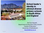 Prof Jan Heystek Department of Education Policy Studies Faculty of Education University of Stellenbosch Heystek@sun.ac.z