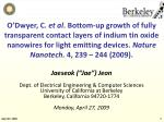 "Jaeseok (""Jae"") Jeon Dept. of Electrical Engineering & Computer Sciences University of California at Berkeley Berkel"