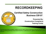 Certified Safety Construction Business CB107