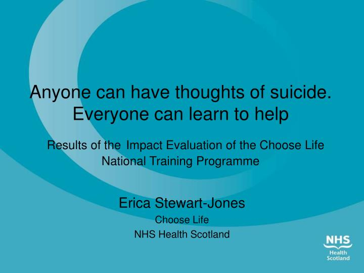 erica stewart jones choose life nhs health scotland n.