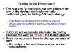 Testing in OO Environment