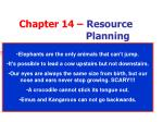 Chapter 14 – Resource Planning