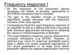 Frequency response I