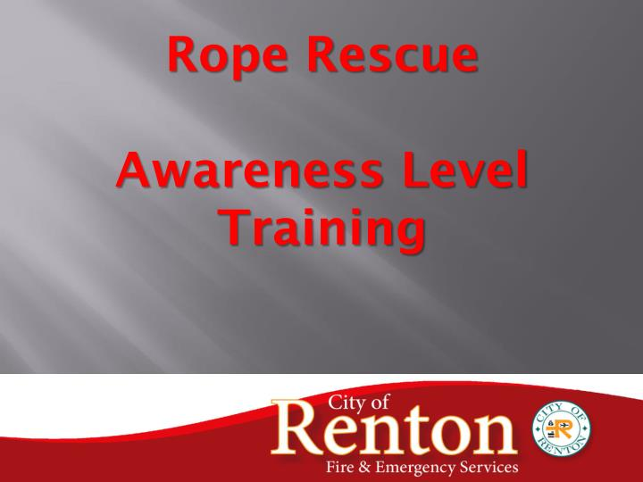 rope rescue awareness level training n.