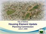City of Salinas Housing Element Update  Planning Commission  June 3, 2009