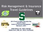 Risk Management & Insurance Travel Guidelines