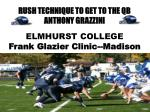 RUSH TECHNIQUE TO GET TO THE QB ANTHONY GRAZZINI