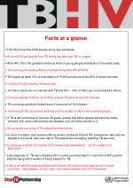 Facts at a glance  HIV kills more than 6000 people every day worldwide.