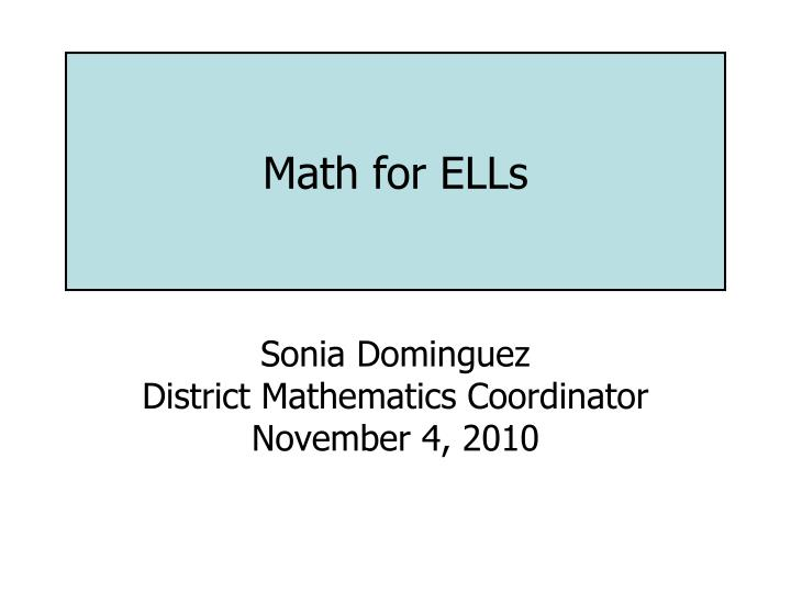 math for ells n.
