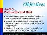 LESSON 5.3 Production and Cost